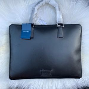 Cole Haan Hamilton grand leather briefcase black
